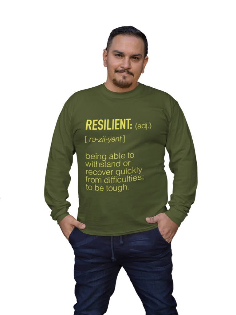 RESILIENT LONG SLEEVE MILITARY GREEN TEE | UNISEX