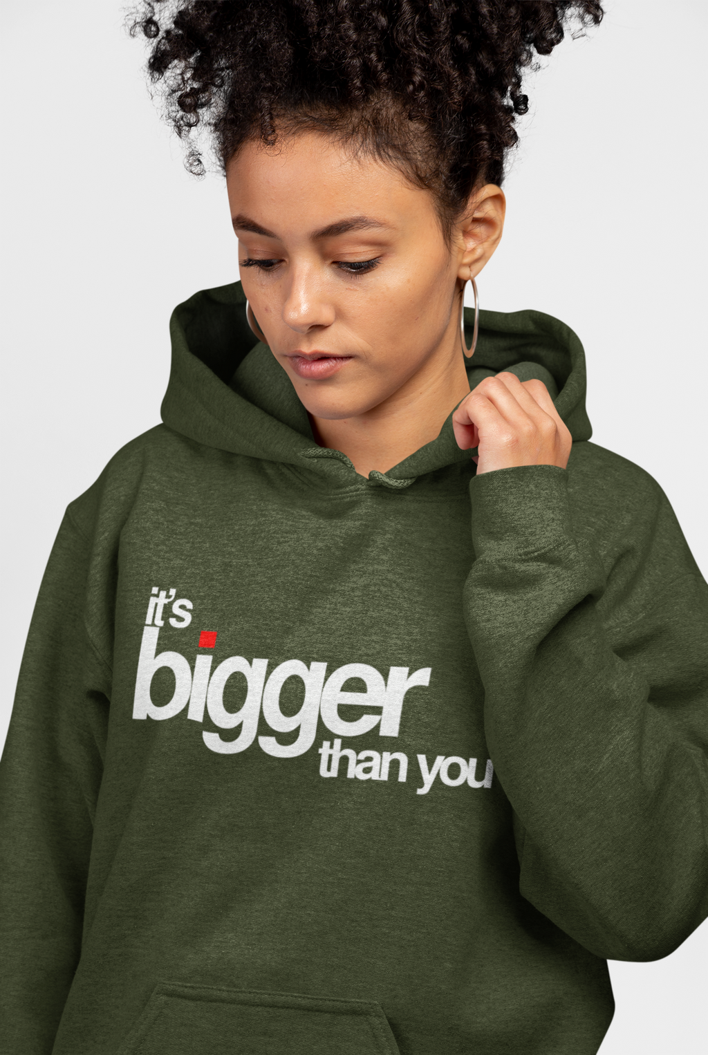 BIGGER THAN YOU - HEATHER ARMY GREEN - PULLOVER HOODIE | UNISEX