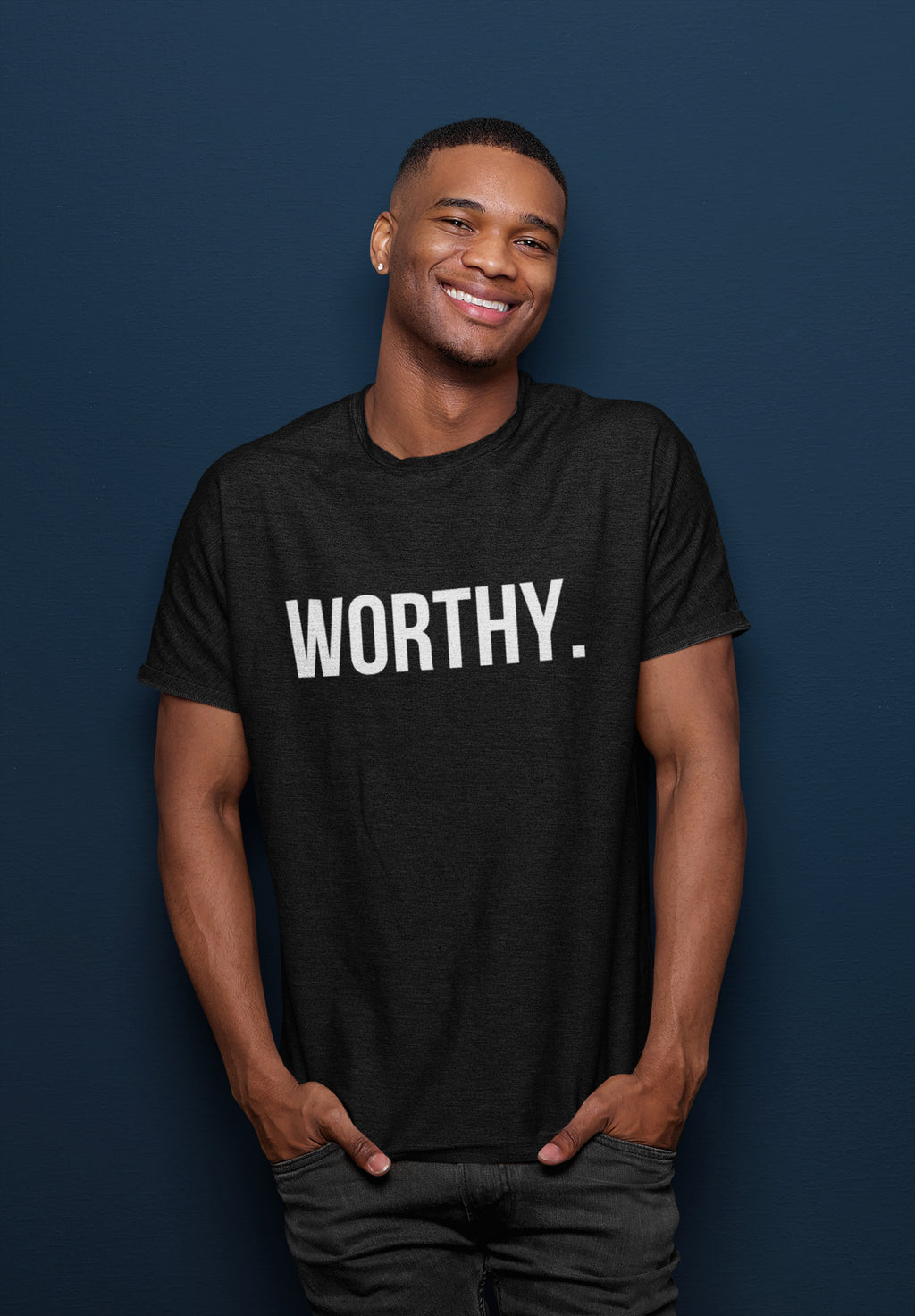 WORTHY BLACK SHORT SLEEVE T-SHIRT | UNISEX