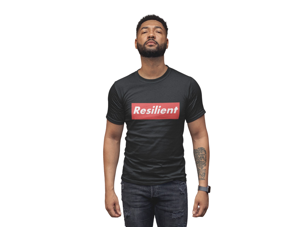 "RESILIENT ""SUPREME"" BLACK SHORT SLEEVE T-SHIRT 