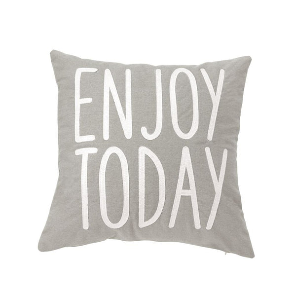 Mud Pie Enjoy Today Canvas Pillow