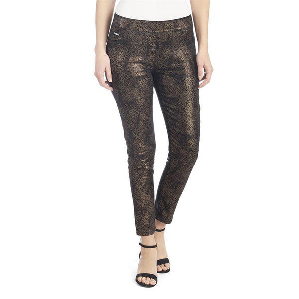 Coco + Carmen OMG Printed Skinny - Black and Gold Leopard 2039086H