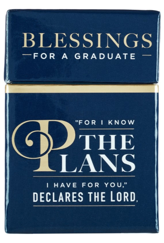 Christian Art Gift Graduation Cards Blessings For A Graduate For I Know The Plans  BX116