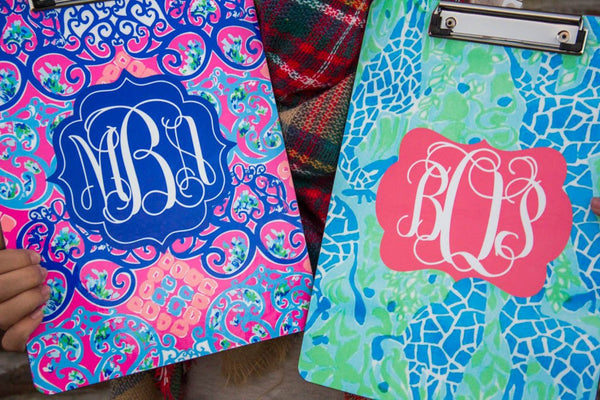Lilly Pulitzer Inspired Clipboard (Collection 2) Darling Custom Designs 27 and 19