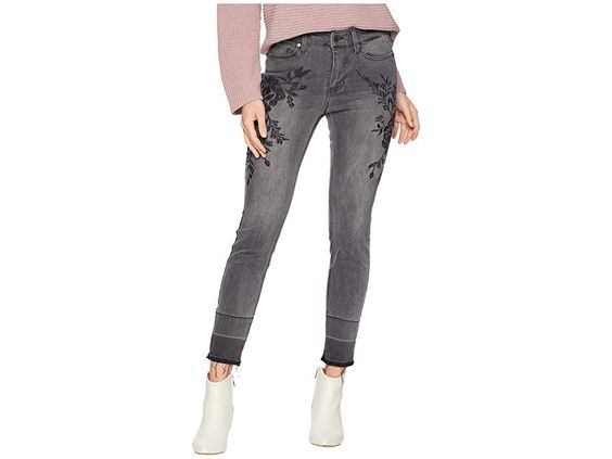 Sadie Embroidered Release Hem Jeans