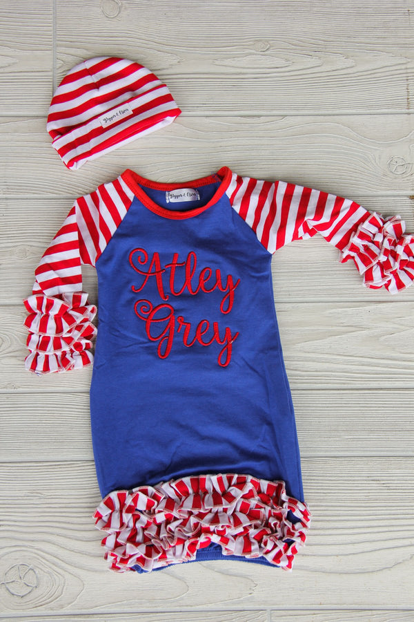 July Baby Gown