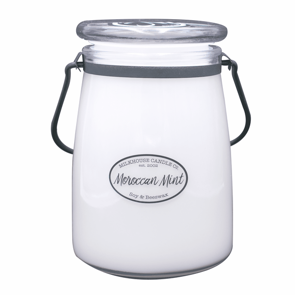 Milkhouse Candle 22 OZ Butter Jar Moroccan Mint