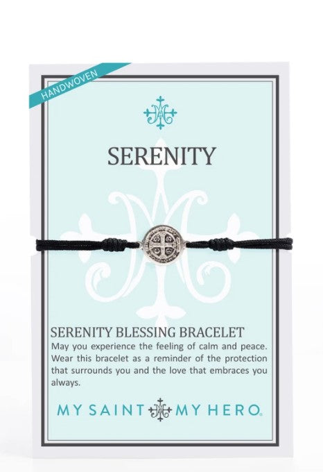 My Saint My Hero Serenity Blessing Bracelet | Wearable Blessing Black Silver  14021BK
