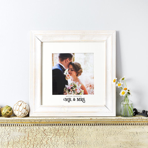 Christian Art Gifts Better Together Photo Frame Mr. & Mrs.