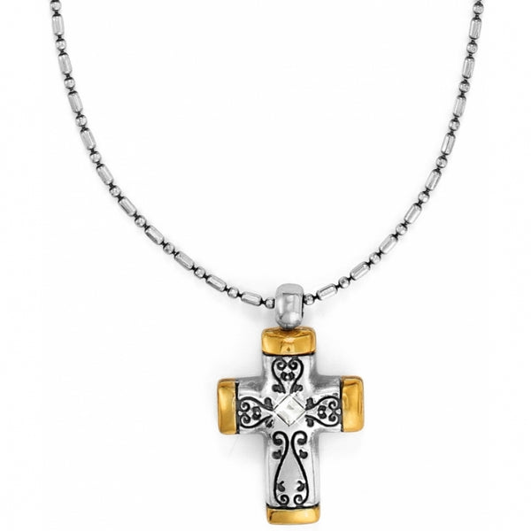 Brighton Collectibles Venezia Petite Cross Necklace