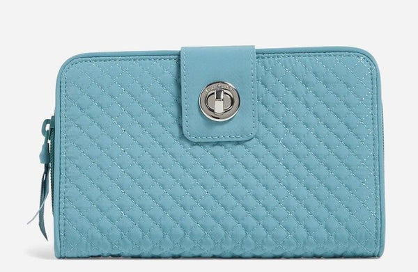 Vera Bradley Iconic RFID Turnlock Wallet Peacock Blue 24156-J36