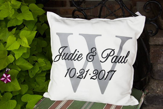 Darling Custom Designs Newlywed Pillow White
