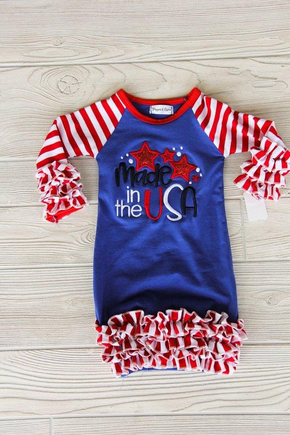 Made in the USA Newborn Gown