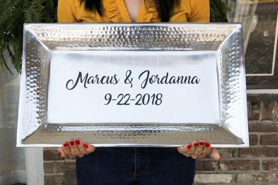 Personalized Silver Platter