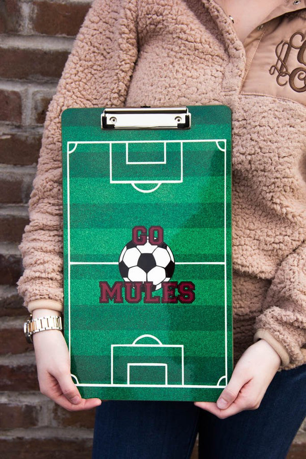 Personalized Soccer Clipboard 9x15.5
