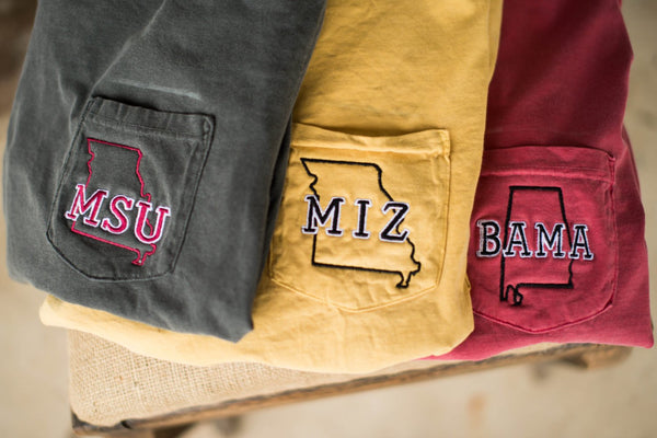 Personalized State College Long Sleeve Pocket Tee