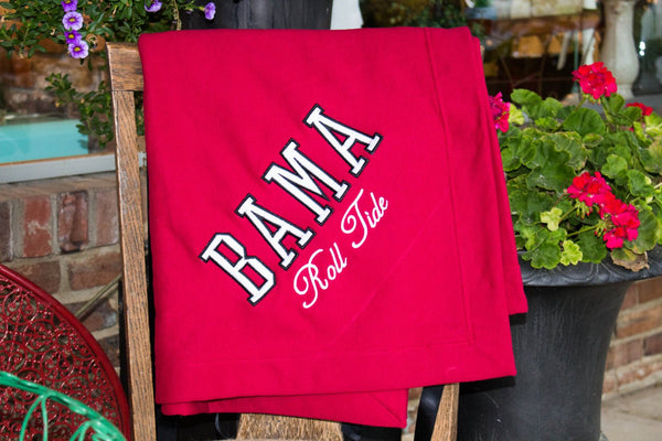 Alabama Fleece Lined Stadium Blanket Darling Custom Designs
