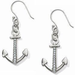 Brighton Collectibles Coastline Reversible Anchor French Wire Earrings