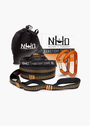 Nature's Hangout XL Hammock Straps - 14 feet (28 ft, 48 Loops Total). Longest, Strongest & Most Versatile. Quick Easy Setup for All Hammocks. Lightweight & Tree Friendly. No Stretch Polyester