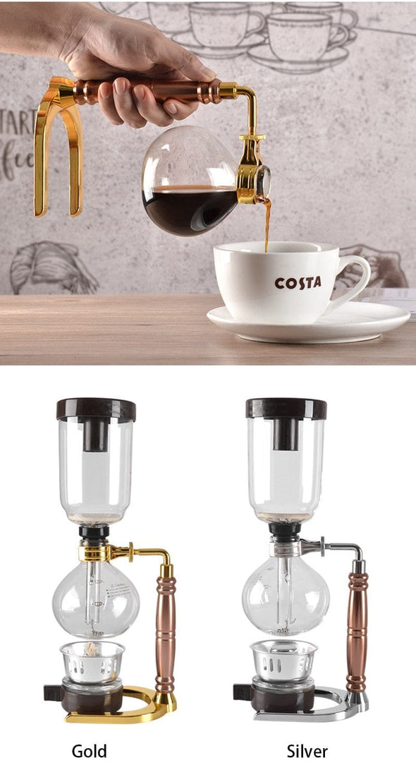 Siphon coffee maker