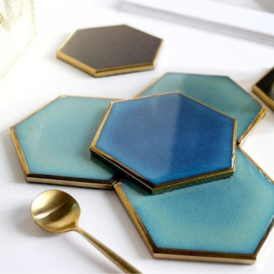 Nordic Hexagon Gold-Plated