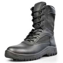 Load image into Gallery viewer, Black A3 Side-Zip Combat Boot