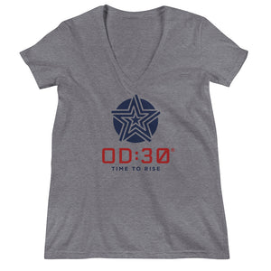 Women's OD:30 Fashion Deep V-neck Tee