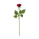 SOGA 12pcs Artificial Silk Flower Fake Rose Bouquet Table Decor Red