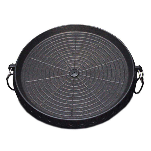SOGA Portable Korean BBQ Butane Gas Stove Stone Grill Plate Non Stick Coated Round