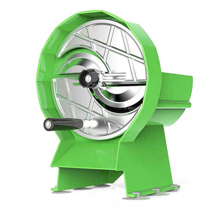 SOGA Commercial Manual Vegetable Fruit Slicer Kitchen Cutter Machine Green