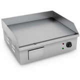 SOGA 2200W Stainless Steel Ribbed Griddle Commercial Grill BBQ Hot Plate 56*48*23cm