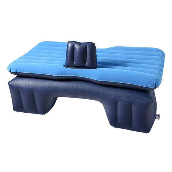 SOGA Inflatable Car Mattress Portable Travel Camping Air Bed Rest Sleeping Bed Blue