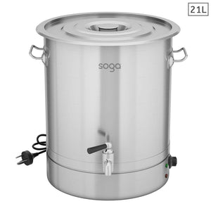 SOGA 21L Stainless Steel URN Commercial Water Boiler  2200W