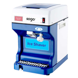 SOGA Ice Shaver Commercial Electric Stainless Steel Ice Crusher Slicer Machine 120KG/h 68