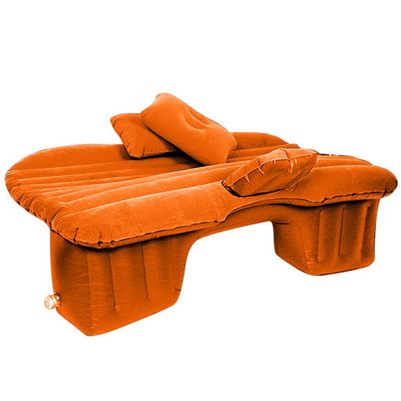 SOGA Inflatable Car Mattress Portable Travel Camping Air Bed Rest Sleeping Bed Orange