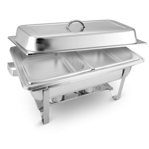 SOGA 2x4.5L Stainless Steel Chafing Food Warmer Catering Dish Dual Trays