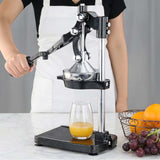 SOGA Commercial Stainless Steel Manual Juicer Hand Press Juice Extractor Squeezer Black