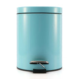 SOGA Foot Pedal Stainless Steel Rubbish Recycling Garbage Waste Trash Bin Round 12L Blue
