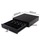 SOGA 2X Black Heavy Duty Cash Drawer Manual 4 Bills 8 Coins Cheque Slot Tray Pos 350