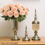 SOGA 10pcs Artificial Silk Flower Fake Rose Bouquet Table Decor Champion