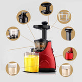 SOGA Slow Juicer Premium Masticating Electric Vegetable Juice Extractor Red