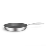SOGA 3X Stainless Steel Fry Pan Frying Pan Induction FryPan Non Stick Interior Skillet