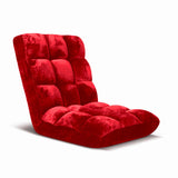 SOGA Floor Recliner Folding Lounge Sofa Futon Couch Folding Chair Cushion Red x2