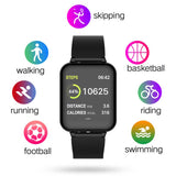 SOGA Waterproof Fitness Smart Wrist Watch Heart Rate Monitor Tracker Black