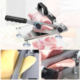 SOGA 2X Manual Frozen Meat Slicer Handle Meat Cutting Machine 18/10 Commercial Grade Stainless Steel