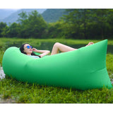 2X Fast Inflatable Sleeping Bag Lazy Air Sofa Green