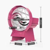 SOGA 2X Commercial Manual Vegetable Fruit Slicer Kitchen Cutter Machine Pink