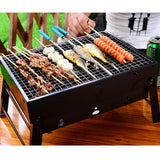 SOGA 2X 60cm Portable Folding Thick Box-type Charcoal Grill for Outdoor BBQ Camping