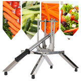 SOGA 2X Commercial Potato French Fry Fruit Vegetable Cutter Stainless Steel 3 Blades