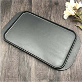 SOGA 2X 47cm Cast Iron Nonstick Ridged Griddle Hot Plate Grill Pan BBQ Stovetop